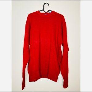 Pendleton Vintage Men's 100% Wool Red Sweater Lg